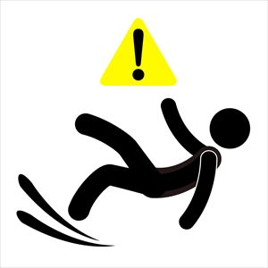 滑りやすい床での転倒事故防止